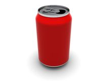 Empty aluminum can Stock Photo