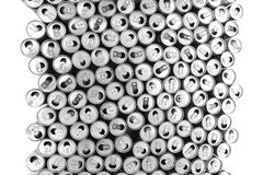 empty aluminum cans Royalty Free Stock Images