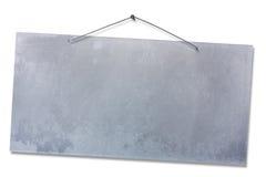 Empty aluminum notice  Stock Images