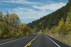 An empty american road in colorado , usa Royalty Free Stock Image