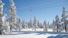 Empty anchor ski lift Stock Photo