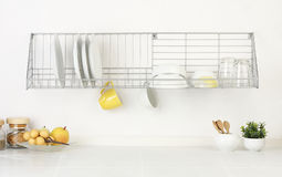 Empty And Blank Space Of Kitchen Interior Stock Photos