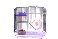 Empty animal cage isolated on white Royalty Free Stock Image