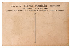 Empty antique french postcard. retro style paper background Royalty Free Stock Photography