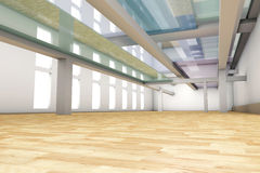 Empty apartment interior. A modern empty Apartment interior. 3D rendered illustration Stock Photo