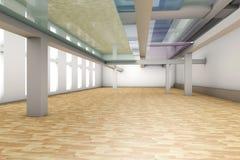 Empty apartment interior. A modern empty Apartment interior. 3D rendered illustration Stock Image