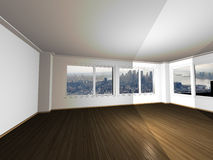 Empty apartment with magnificent view Royalty Free Stock Images