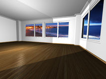 Empty apartment with magnificent view Stock Photo
