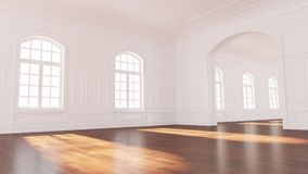 Empty apartment in an old building Stock Image