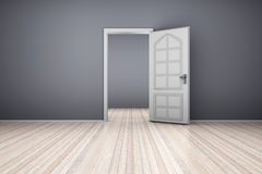 Empty Apartment. A empty apartment with a open door. 3D illustration Stock Image