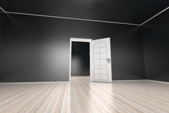 Empty Apartment. A empty apartment with a open door. 3D illustration Royalty Free Stock Images