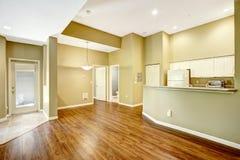 Empty apartment with open floor plan. Stock Image