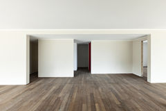 Empty apartment, open space Royalty Free Stock Images