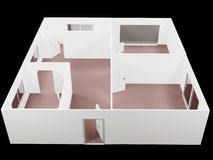 The empty apartment, a plan,. 3d rendering Royalty Free Stock Image