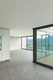 Empty apartment, room with windows Stock Image