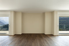 Empty apartment with windows Stock Image