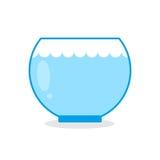 Empty aquarium fish. Glass vessel for keeping aquatic animals. Empty aquarium fish.  Glass vessel for keeping aquatic animals Stock Photo