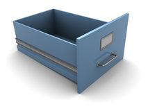 Empty archive box. 3d illustration of single empty archove box, over white background Stock Photos