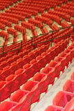 Empty arena seats Stock Photo
