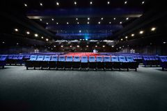 Empty arm-chairs are in hall of picturedrome Royalty Free Stock Photography