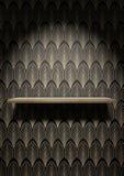 Empty Art Deco Shelf On Wall Stock Photos