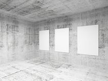 Empty art gallery hall interior. 3d render Stock Images