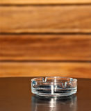 Empty ashtray on the table Stock Photography