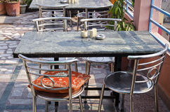Empty asian restaurant space with table and chairs Royalty Free Stock Photography