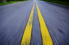 Empty asphalt blurry road Stock Image
