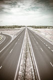 Empty asphalt highway Royalty Free Stock Photography