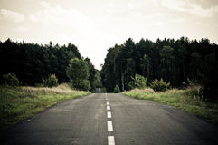 Empty asphalt road across the forest Royalty Free Stock Photography