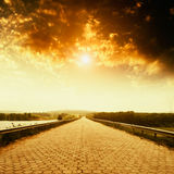 Empty asphalt road Royalty Free Stock Image