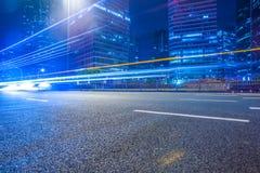 Empty asphalt road through modern city in China Stock Image