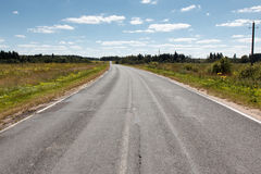 Empty asphalt road perspective Stock Image