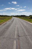Empty asphalt road perspective Royalty Free Stock Images