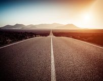 Road on a sunny summer day royalty free stock photography