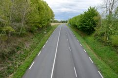 French national road Stock Image