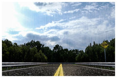Empty asphalted road Royalty Free Stock Photo