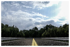 Empty asphalted road Royalty Free Stock Photography