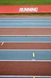 Empty athletic tracks Royalty Free Stock Photo