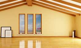 Empty attic stock images