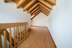 Empty attic after renovation work on an old house Royalty Free Stock Images