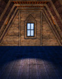 Empty attic room Stock Image