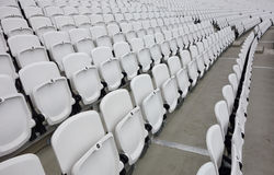 Empty audience seats Stock Photo