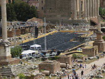 Empty audience seats in Rome Stock Image