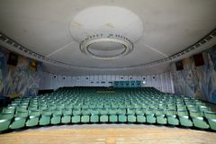 Empty auditorium conference hall, cinema hall, concert hall wi Royalty Free Stock Photos