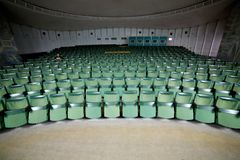 Empty auditorium conference hall, cinema hall, concert hall wi Royalty Free Stock Photo
