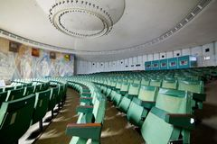 Empty auditorium conference hall, cinema hall, concert hall wi Royalty Free Stock Image
