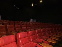 galaxy theater empty auditorium seats in row stock images