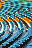 Empty auditorium seats Royalty Free Stock Images